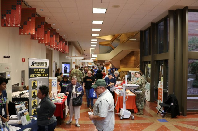 Retirees visited many booths and services during Joint Base San Antonio's Military Retiree Appreciation Day, October 19, hosted by Brooke Army Medical Center.