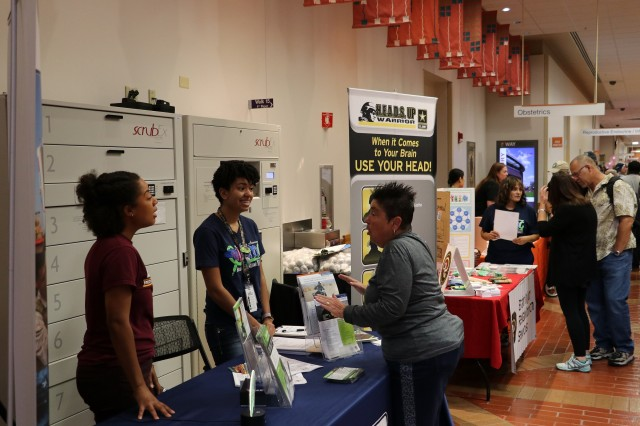 Retirees visited one of many booths and services during Joint Base San Antonio's Military Retiree Appreciation Day, October 19, hosted by Brooke Army Medical Center.