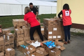 American Red Cross provides over 2,000 comfort kits to rotating Soldiers