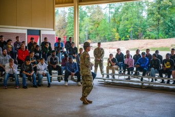 Future Soldiers get close look at basic training during visit to Fort Benning
