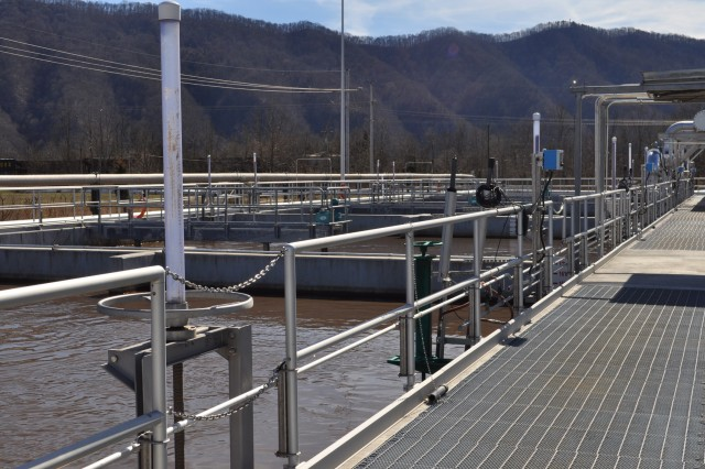New state-of-the-art waste water treatment facilities on the Holston Army Ammunition Plant completed to modernize and ensure environmental compliance, August 2019.