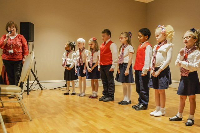 A choir of children from the Alabama School for the Blind sang during Anniston Army Depot's Oct. 16 National Disability Employment Awareness Month luncheon.