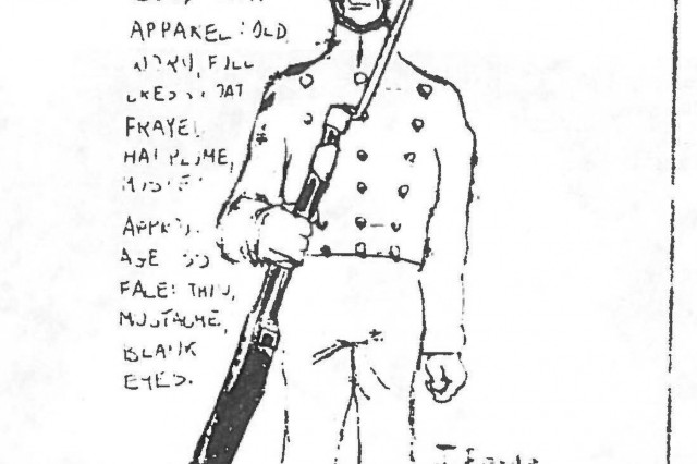 A cadet's drawing of The Pusher, who made his debut appearance in Room 4714 of the North Barracks' 47th Division in October 1972. The image was in the December issue of The Pointer the same year.