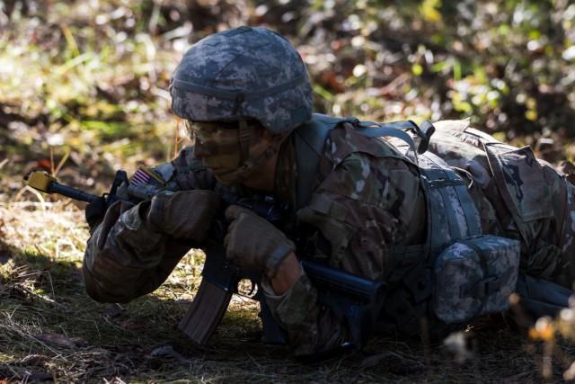 2nd Lt. Chavez Takes On Lancer Brigade's Expert Infantry Badge