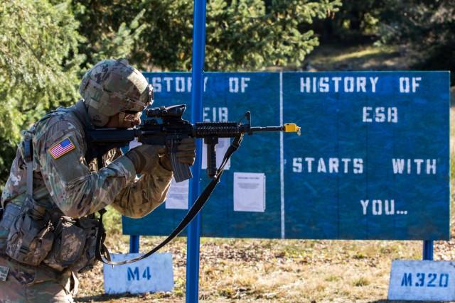 2nd Lt. Barton Sets His Sights on Lancer Brigade's Expert Soldier Badge