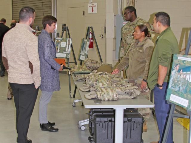 Soldier briefs interns at boot camp