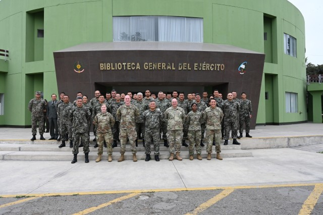 West Virginia National Guard and Ejército del Perú (Peruvian Army) experts met to discuss logistics and natural disaster planning and response in Lima, Peru, Oct. 15-17, 2019.