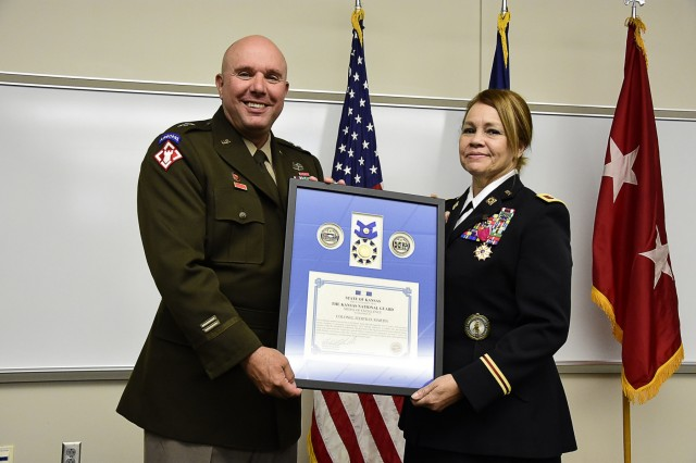 After 38 years of dedicated service, Col. Judith Martin retired from her military career in a ceremony held at Forbes Field Sept. 7. Her friends and family joined her to celebrate and reflect on her impact on the state of Kansas and the United States Army.