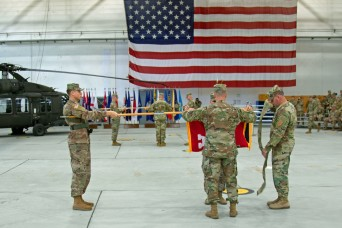 Army rotational aviation forces transfer authority for Atlantic Resolve