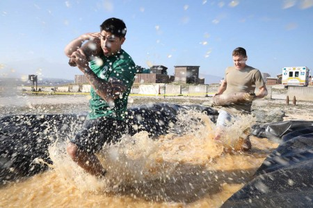 Kosovo Force Regional Command East Explosive Ordnance Disposal Team hosted an EOD Challenge, Oct. 20, 2019, on Camp Bondsteel, Kosovo. The challenge required 15, two-person teams to complete an obstacle course for the best time. Each task simulated t...