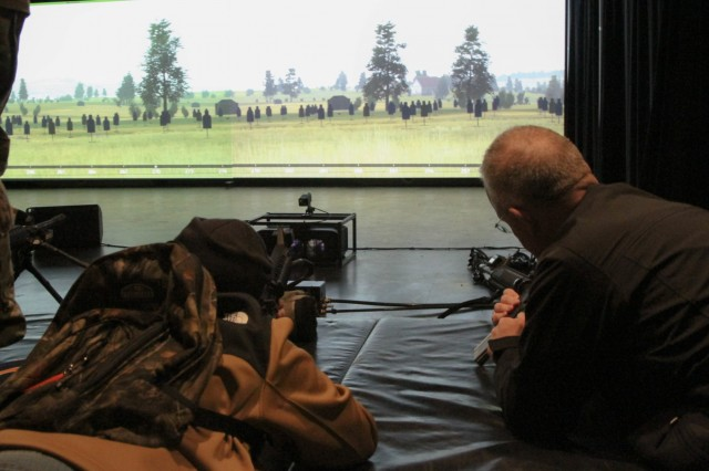 Younger and older generations of cadets' family members were able to see what their sons and daughters go through at the U.S. Military Academy's Simulation Center in Washington Hall.