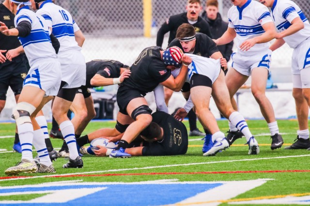 The U.S. Military Academy competes against the Air Force Academy in rugby Nov. 1, 2019 at the Air Force Academy.