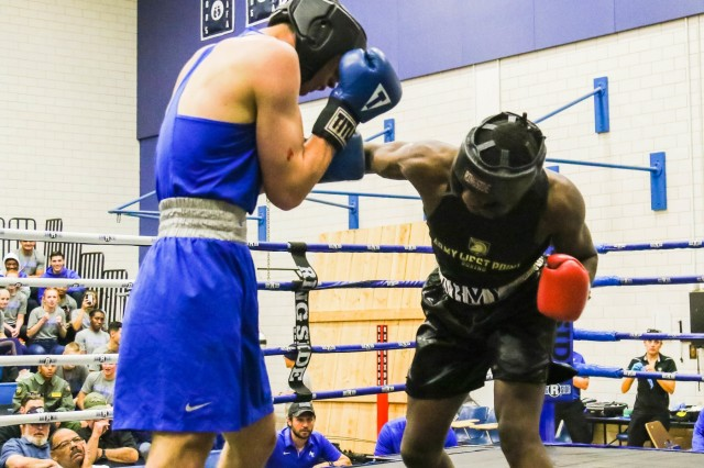 The U.S. Military Academy competes against the Air Force Academy in men's and women's boxing Nov. 1, 2019 at the Air Force Academy.