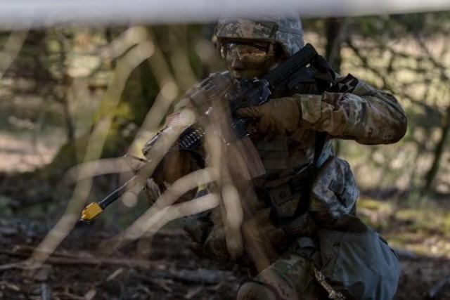 2nd Lt. Chavez Earns 'True Blue' EIB