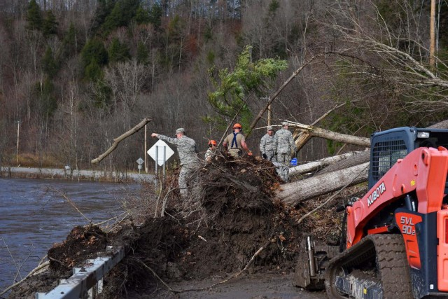 Airmen assist in post storm recovery in Herkimer County, N.Y.