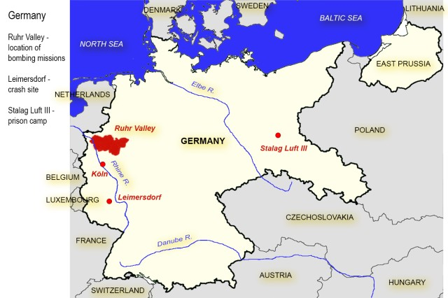 Map of Germany with highlights
