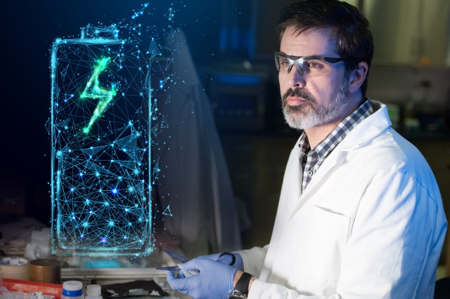 Army scientist Dr. Arthur von Wald Cresce considers new frontiers in battery research using a nonflammable electrolyte.