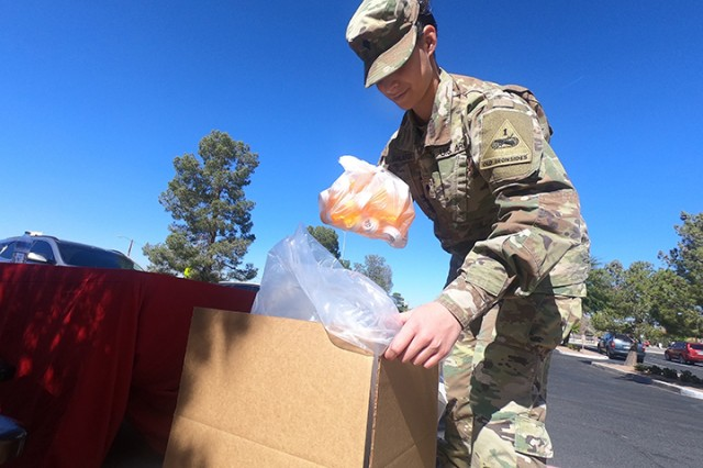 Members of the Texas National Guard Joint Counterdrug Task Force support El Paso Drug Enforcement Administration during Take Back Day to receive unused prescriptions.