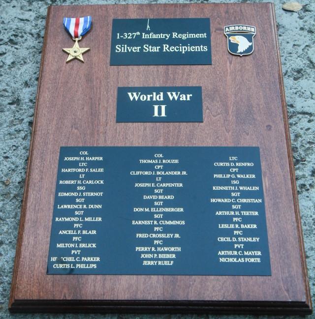 1st Battalion, 327th Infantry Regiment Silver Star Recipients