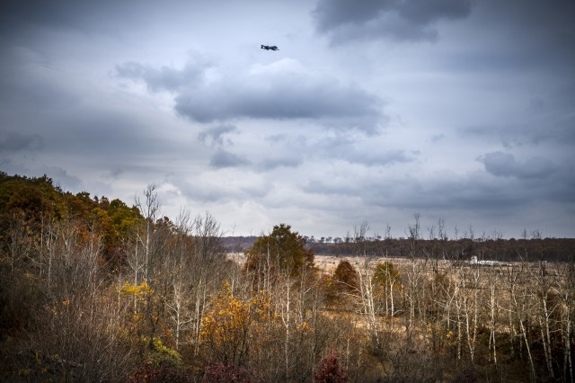 Joint Terminal Attack Controllers from the Latvian National Armed Forces conduct close air support training with A-10 Thunderbolt II aircraft assigned to the 107th Fighter Squadron, Selfridge Air National Guard Base, Mich., at Grayling Aerial Gunnery Range in Waters, Mich., October 29, 2019.