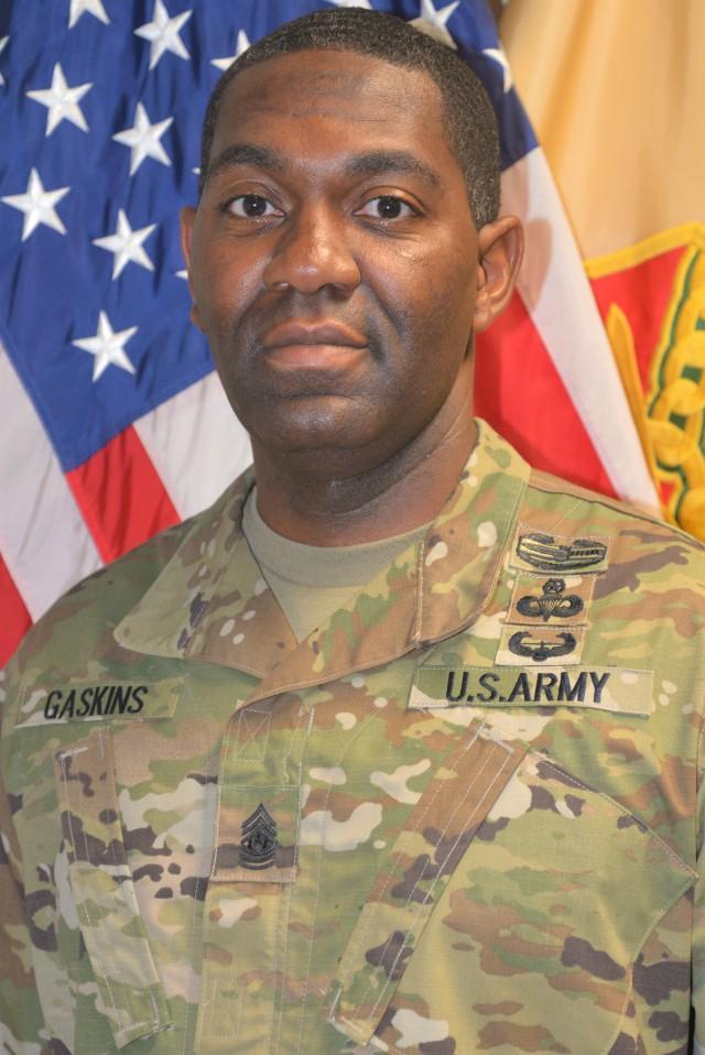 Command Sgt. Maj. Kenyatta Gaskins