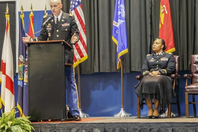 Lt. Col. Martin Wennblom, commander of DLA Distribution Anniston, was the keynote speaker for ANAD's Nov. 7 Veterans Day Ceremony.
