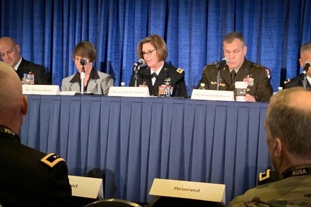 """We collaborate with joint, inter-agency, and international military partners to achieve protection in-depth, across the globe, within the approaches to the homeland, as well as inside the nation's borders."" Lt. Gen. Laura Richardson, U.S. Army North commanding general, speaking on Homeland Defense at the Association of the United States Army conference."