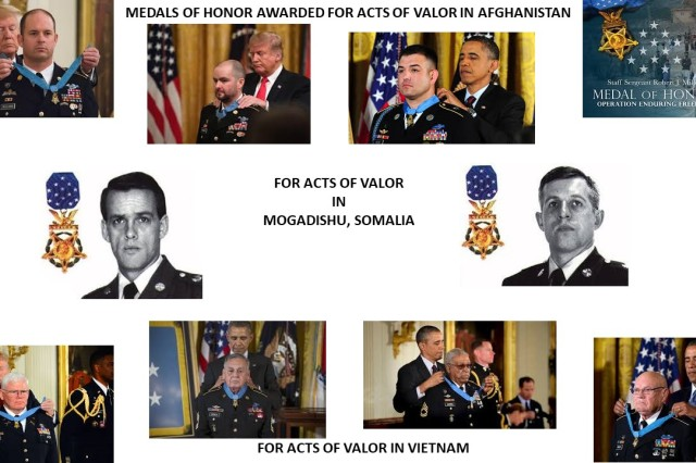 In the past 30 years of U. S. Army Special Operations Command history, 10 American heroes from within its ranks were awarded the Medal of Honor, our Nation's highest award for conspicuous gallantry and intrepidity at the risk of their own lives above and beyond the call of duty.