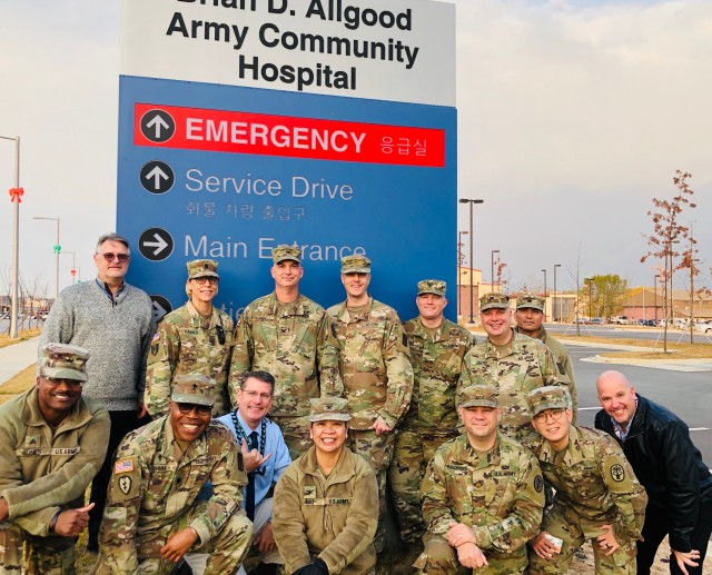 Command team conducts a signage unveiling ceremony