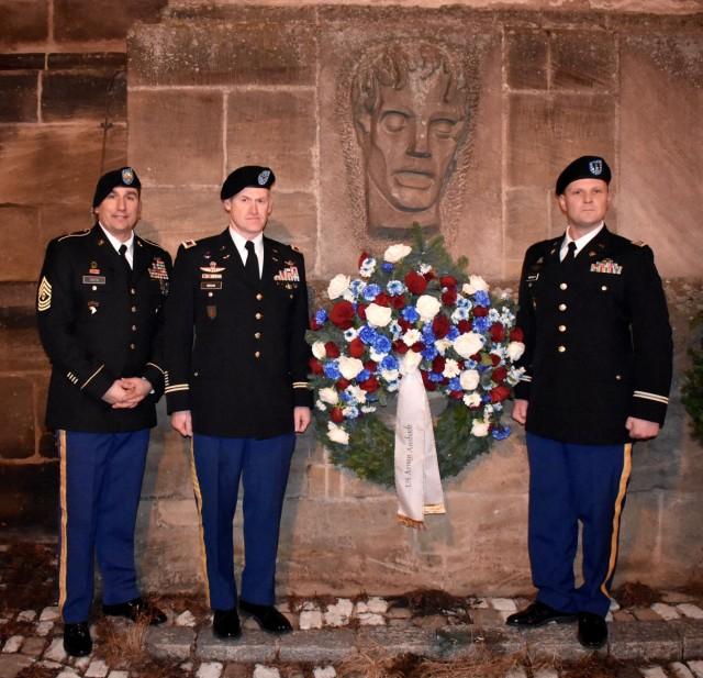 U.S. Army representatives commemorate the fallen at Volkstrauertag in Ansbach