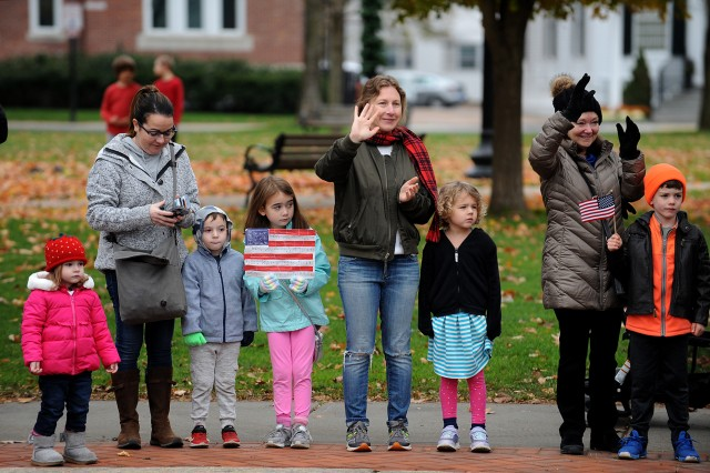 People lined Main Street as the Veterans Day parade passed by on Nov. 11.