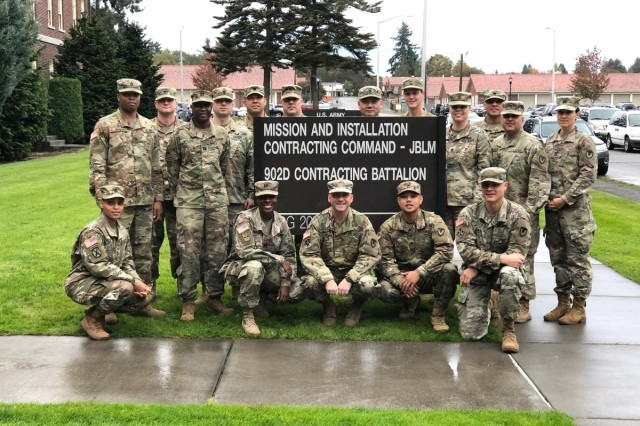 Soldiers from the 902nd Contracting Battalion at Joint Base Lewis-McChord, Washington, were recognized as the Secretary of the Army Awards for Excellence in Contracting winner in the contingency contract category for fiscal 2019.