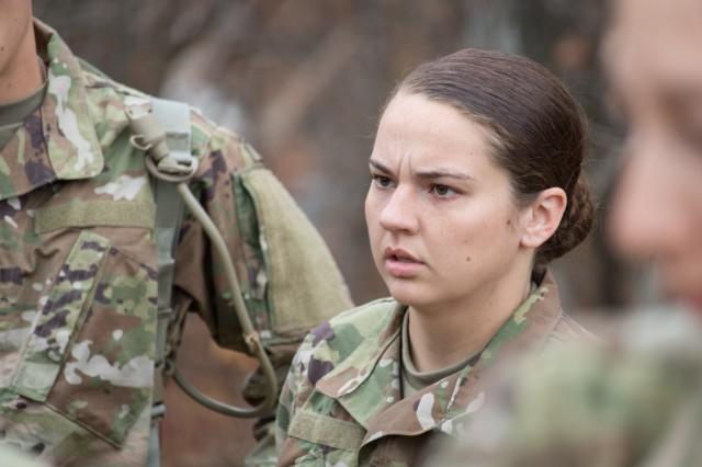 Pfc. Katelyn Castro arrived at Fort Leonard Wood from her hometown of Joplin, Missouri, for Basic Combat Training on Oct. 28.
