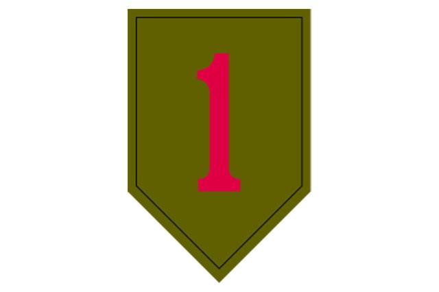 1st Infantry Division shoulder sleeve insignia.