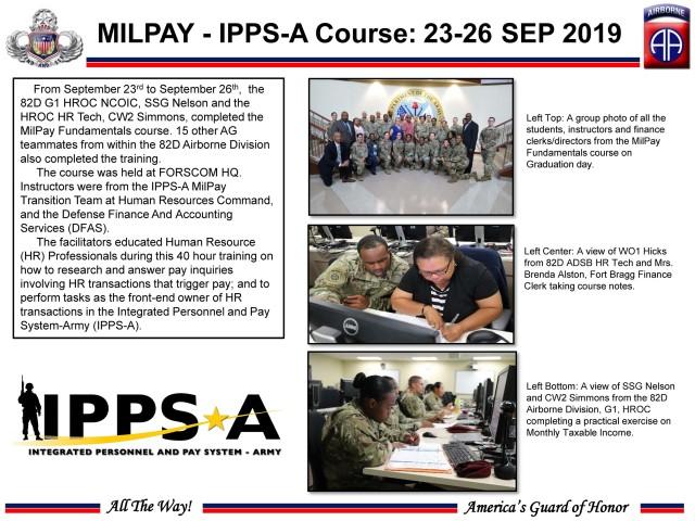 Fort Bragg host IPPS-A MilPay Fundamentals course
