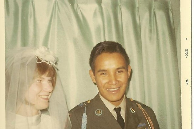 Ernie and Darlene Wensaut marry Nov. 11, 1967, at the Potawatomi reservation in Wisconsin after his return from Vietnam.