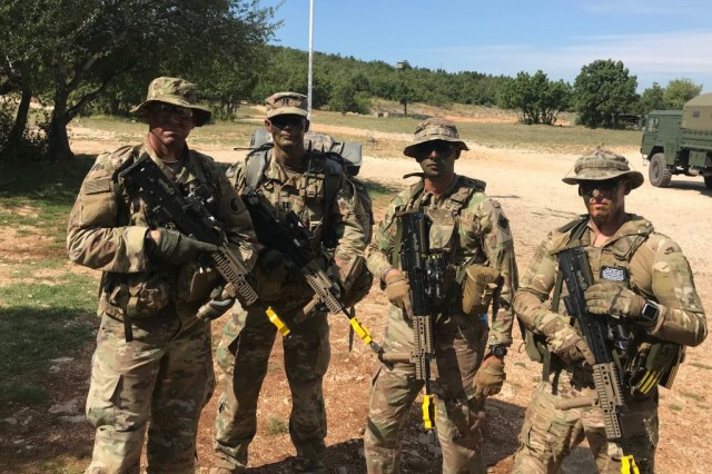 Virginia National Guard Soldiers participate in the Military Reserve Exchange Program in 2019 in the United Kingdom. MREP provides an opportunity for Guard and Reserve Soldiers, both officers and non-commissioned officers, to temporarily attach to and train with select foreign allied nations. It helps participants increase their knowledge of foreign Reserve Forces and demonstrates continued support of NATO members and their militaries.
