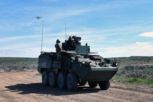 The NBCRV SSU integrated six CBRN sensors with communications equipment, unmanned aerial vehicles, unmanned ground vehicles, and computing equipment. (U.S. Army photo.)