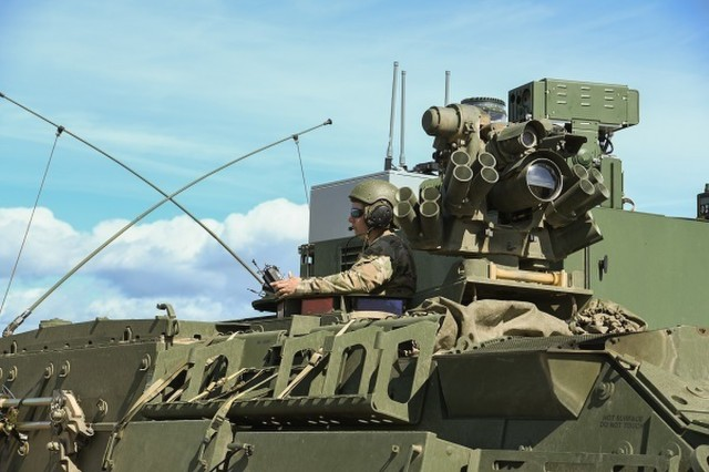 The NBCRV SSU will use un-manned systems teaming with a manned platform, leveraging land and air robotic platforms and sensor technologies to detect and identify hazards and communicate back to the commanders making decisions. (U.S. Army photo.)