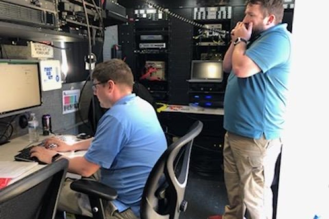 Joint Force Headquarters-National Capital Region and the U.S. Army Military District of Washington deployed their mobile command post on Fort Lesley J. McNair, Washington, D.C., to compete in the 7th annual international High Frequency (HF) competition Noble Skywave Oct. 23-24, 2019.