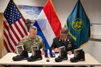 U.S. Army, Royal Netherlands Army co-sign agreement to enhance mission capabilities
