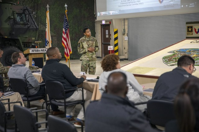 Congressional staff members visit 403rd AFSB in South Korea