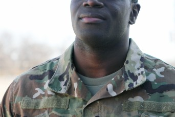 Former NFL player in Basic Combat Training