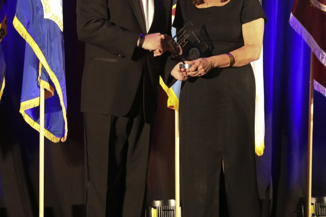 Phyllis Toor was awarded the Military Health Services Federal Civilian Nursing Leadership Excellence Award at the Association of Military Surgeons of the United States (AMSUS) annual meeting on December 5, 2019, at the 2019 AMSUS Annual Meeting. The AMSUS Annual Meeting is for military healthcare professionals and leaders to improve the effectiveness, cohesiveness, and esprit de corps of the federal healthcare services. (U.S. Army Image by Jenie Fisher, MEDCOM/OTSG)