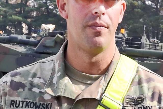 Sgt. 1st Class Ryan Rutkowski, platoon sergeant/tank commander, Bravo Company, 1-12 Cav