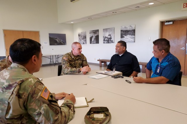 Pago Pago, American Samoa - Brig. Gen. Timothy Connelly, commanding general of the 9th Mission Support Command met with Airport Authority on Dec. 6 to discuss Army Reserve access to the flight line to be optimally postured to support the island in the event of an emergency.