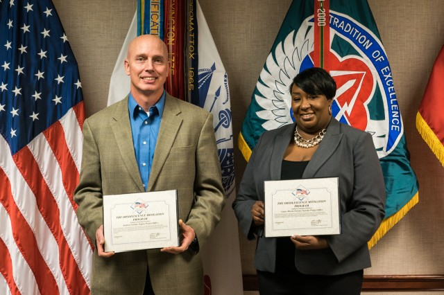 Recipients of the Life Cycle Cost Reduction Obsolescence Mitigation award certificates.