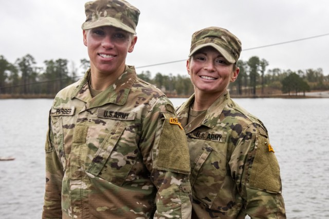 U.S. Army Sgt. Danielle Farber, Pennsylvania National Guard 166th Regional Training Institute Medical Battalion Training Site instructor, and U.S. Army Staff Sgt. Jessica Smiley, South Carolina National Guard military police non-commissioned officer currently serving with the U.S. Army Training and Doctrine Command, graduate U.S. Army Ranger School at Fort Benning, Ga., Dec. 13, 2019, as the first National Guard enlisted females to complete the leadership school. Smiley and Farber completed the mentally and physically challenging school, which focused on squad and platoon operations designed to prepare Soldiers to be better trained, more capable, and more resilient leaders.
