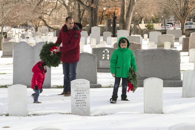 A young family learns the value of tradition and honor found by sacrificing veterans' lives  through the laying of wreaths at the Wreaths Across America ceremony.