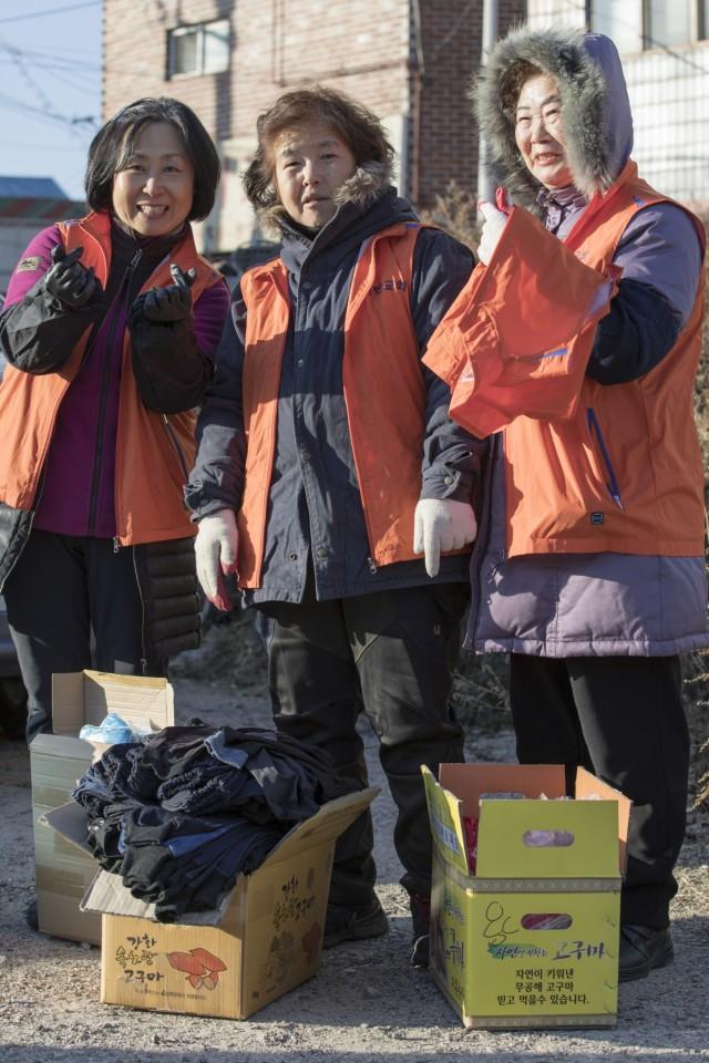 Camp Casey charcoal briquette distribution